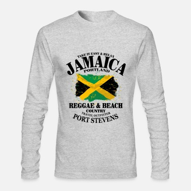 Jamaica Reggae & Beach - Jamaica Vintage Flag - Men's Long Sleeve T-Shirt by Next Level