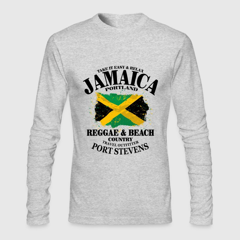 Reggae & Beach - Jamaica Vintage Flag - Men's Long Sleeve T-Shirt by Next Level
