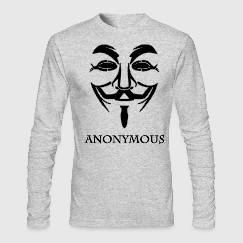 Anonymous-black.png - Men's Long Sleeve T-Shirt by Next Level