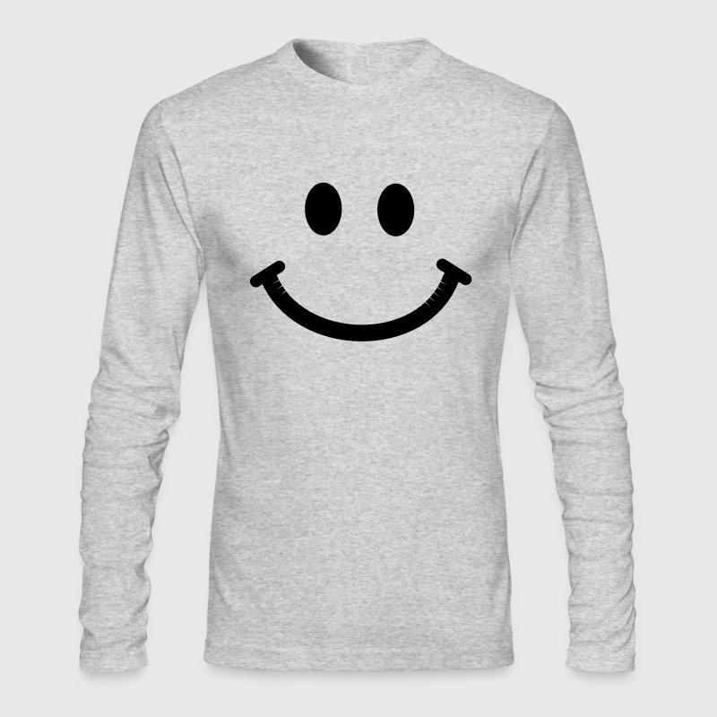 Happy Smiley Face - Men's Long Sleeve T-Shirt by Next Level