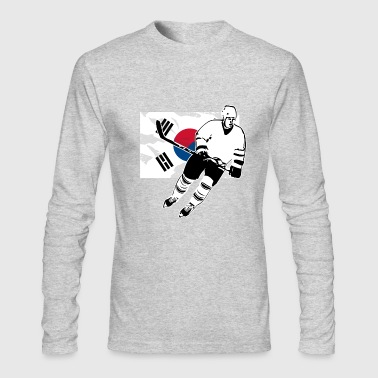 Hockey - South Korea Flag - Men's Long Sleeve T-Shirt by Next Level