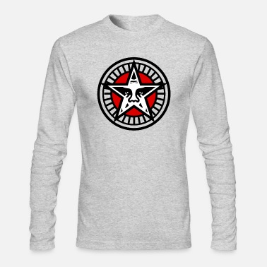 Obey Star Face - Men's Long Sleeve T-Shirt by Next Level
