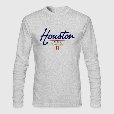 Houston Script - Men's Long Sleeve T-Shirt by Next Level