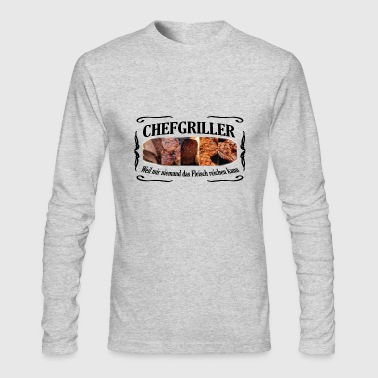 CHEFGRILLER schwarz - Men's Long Sleeve T-Shirt by Next Level