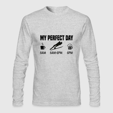 My perfect day - Skjumping winter gift - Men's Long Sleeve T-Shirt by Next Level