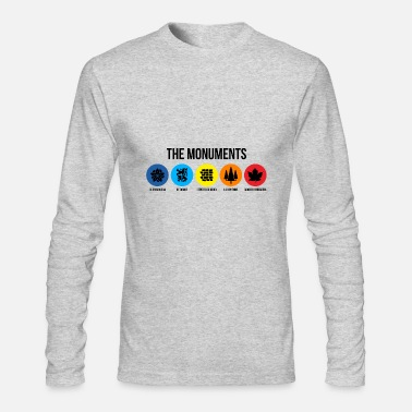 Monument THE MONUMENTS - Men's Long Sleeve T-Shirt by Next Level