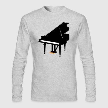 piano - Men's Long Sleeve T-Shirt by Next Level