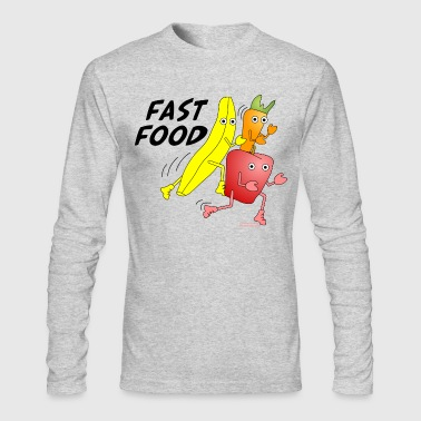 Fast Food - Men's Long Sleeve T-Shirt by Next Level