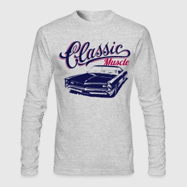 muscle car design - Men's Long Sleeve T-Shirt by Next Level