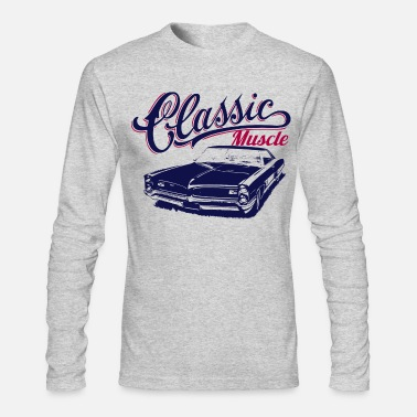Muscle muscle car design - Men's Long Sleeve T-Shirt by Next Level