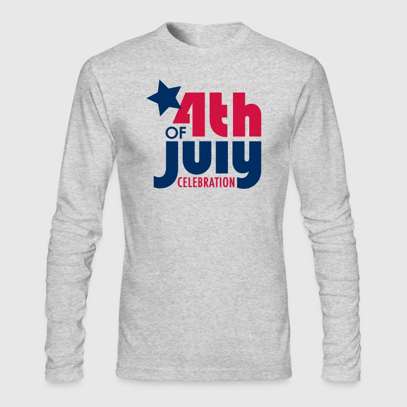 Fourth of July Celebration - Small Buttons - Men's Long Sleeve T-Shirt by Next Level