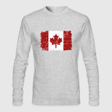 Canada Maple Leaf Flag - Vintage Look - Men's Long Sleeve T-Shirt by Next Level