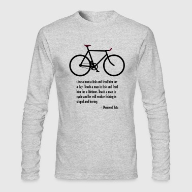desmond tutu cycling quote - Men's Long Sleeve T-Shirt by Next Level