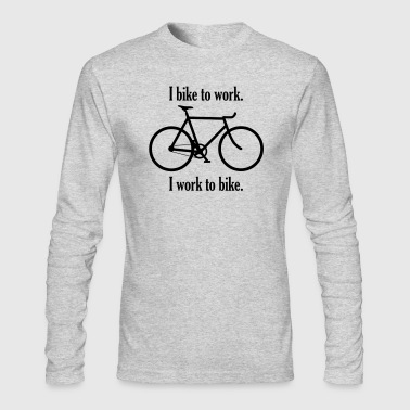 bike_to_work_work_to_bike - Men's Long Sleeve T-Shirt by Next Level
