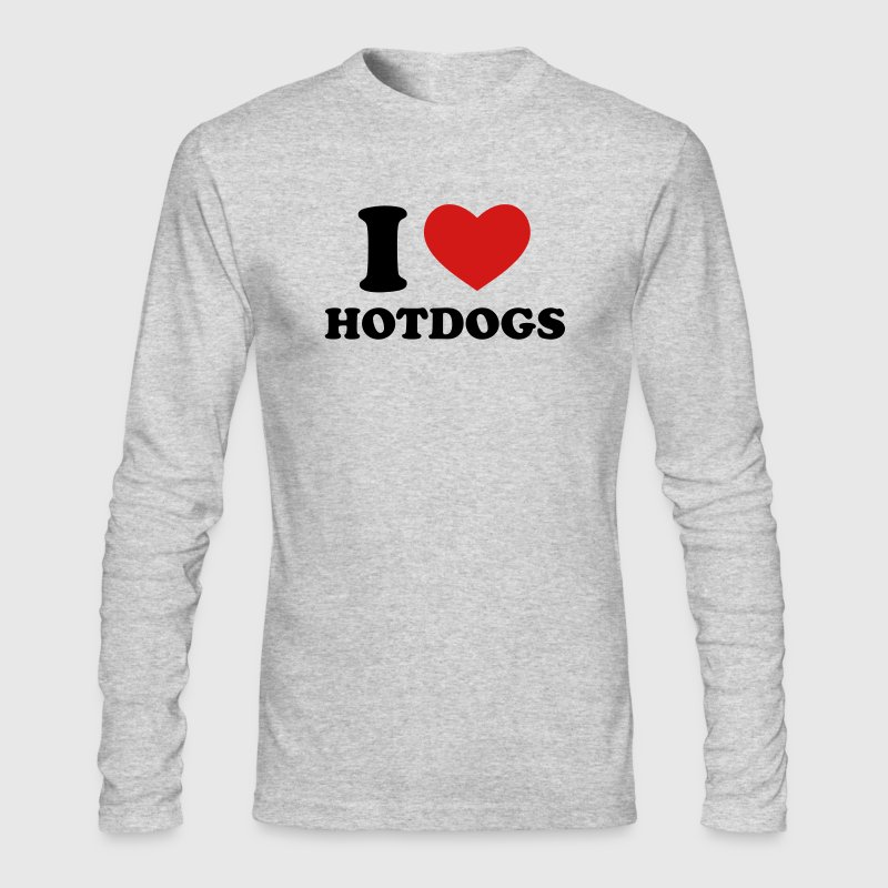 I Love Hotdogs - Men's Long Sleeve T-Shirt by Next Level