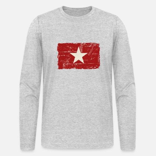 Vietnam Flag Vintage Look Men S Longsleeve Shirt Spreadshirt
