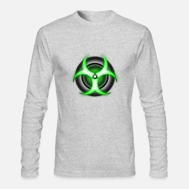 Biohazard zombie glowing biohazard - Men's Long Sleeve T-Shirt by Next Level