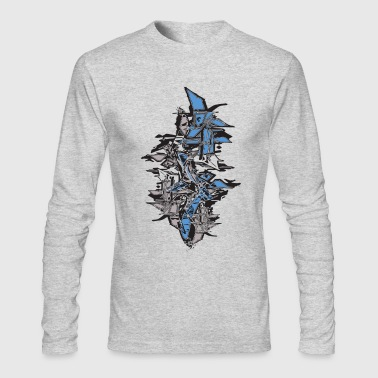 cool graffiti stack shapes - Men's Long Sleeve T-Shirt by Next Level