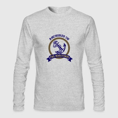 Maritime Anchored in the Maritimes - Men's Long Sleeve T-Shirt by Next Level