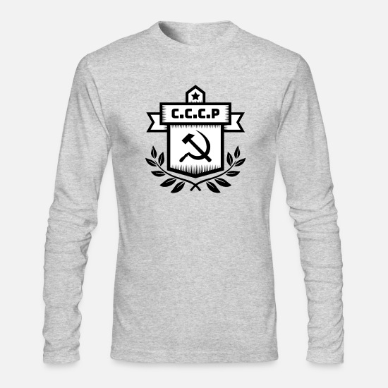 Cccp Long-Sleeve Shirts - Communist Hammer Sickle - Men's Longsleeve Shirt heather gray