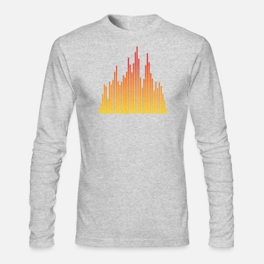 Audio audio levels music design - Men's Long Sleeve T-Shirt by Next Level