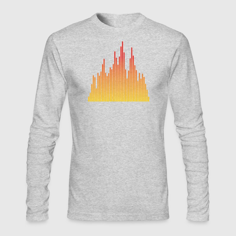 audio levels music design - Men's Long Sleeve T-Shirt by Next Level