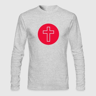Red Cross Red Circle Cross - Men's Long Sleeve T-Shirt by Next Level