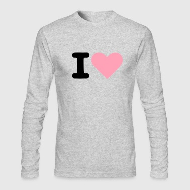 I heart - Men's Long Sleeve T-Shirt by Next Level