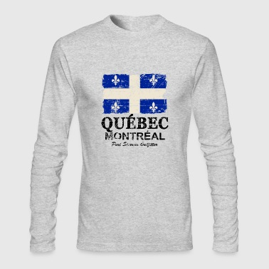 Quebec Flag - Vintage Look - Men's Long Sleeve T-Shirt by Next Level