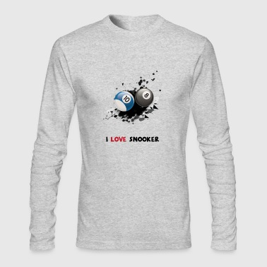 8 Ball I love snooker and Billiard Shirt gifts - Men's Long Sleeve T-Shirt by Next Level