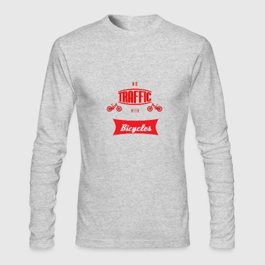 no traffic with bicycles - Men's Long Sleeve T-Shirt by Next Level