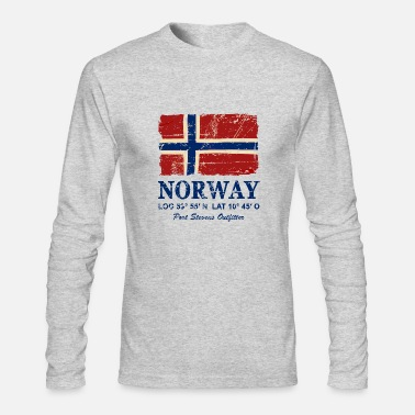 Norway Norway Flag - Vintage Look - Men's Long Sleeve T-Shirt by Next Level