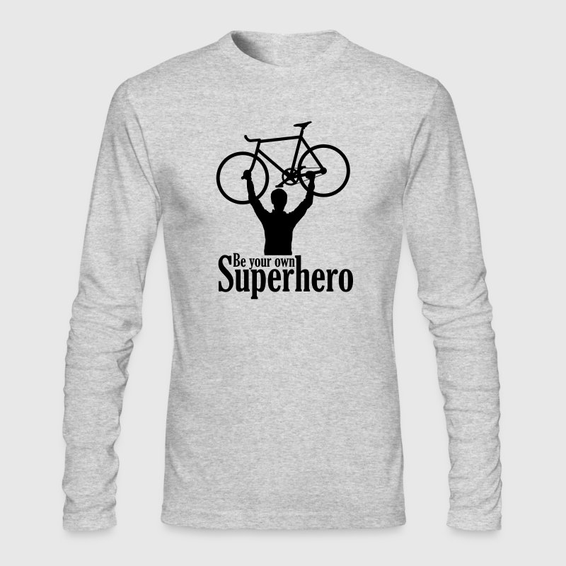 Be your own superhero - Men's Long Sleeve T-Shirt by Next Level