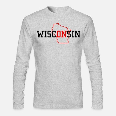 Proud WiscONsin - Men's Long Sleeve T-Shirt by Next Level