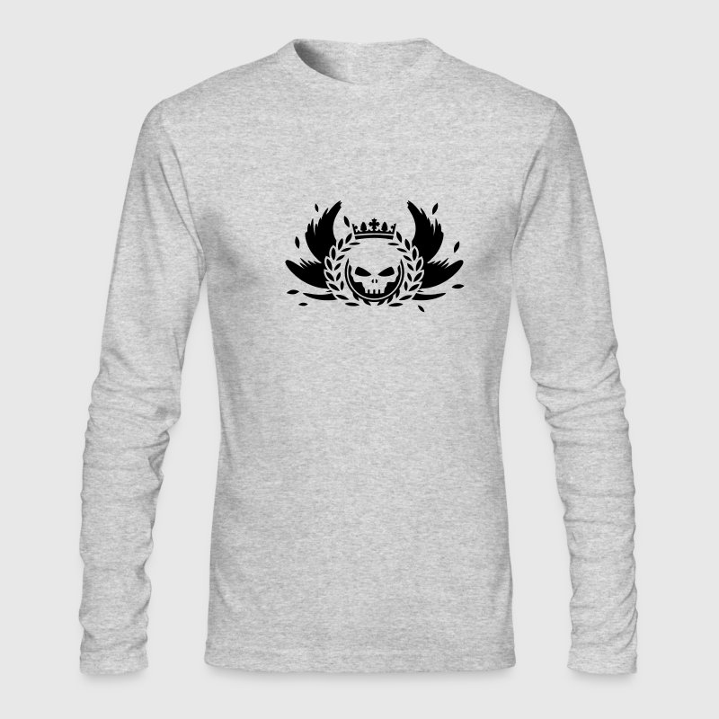 Skull with crown, wings and laurel wreath - Men's Long Sleeve T-Shirt by Next Level