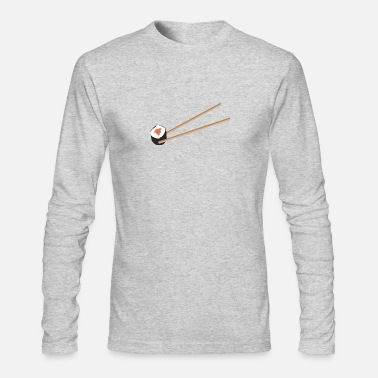 Sushi Sushi roll with chopsticks - Men's Long Sleeve T-Shirt by Next Level