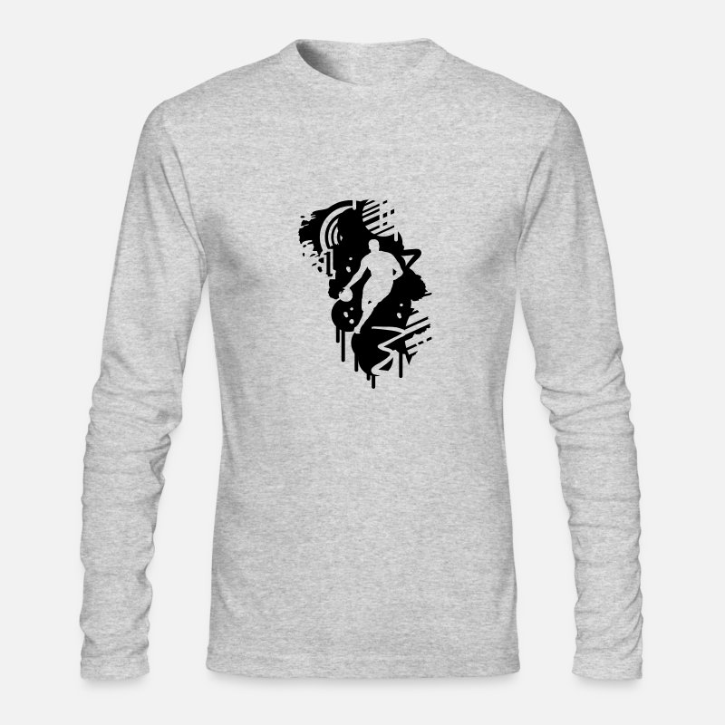 Basketball Long sleeve shirts -  basketball graffiti Design - Men's Longsleeve Shirt heather gray
