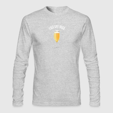 guy need beer oktoberfest - Men's Long Sleeve T-Shirt by Next Level