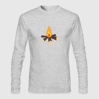 Campfire - Men's Long Sleeve T-Shirt by Next Level