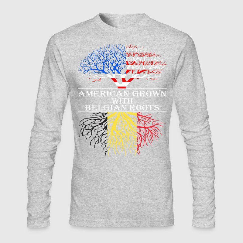 American Grown With Belgian Roots - Men's Long Sleeve T-Shirt by Next Level