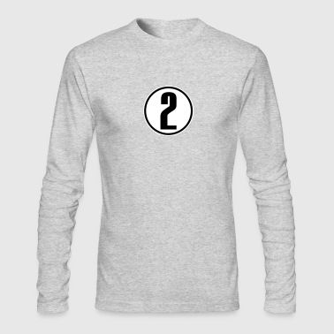 Jersey Number 2 - Men's Long Sleeve T-Shirt by Next Level