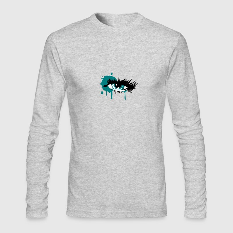 A colored eye with long eyelashes - Men's Long Sleeve T-Shirt by Next Level