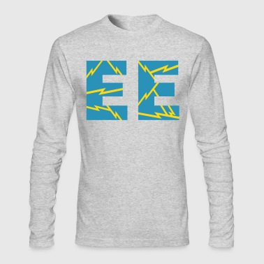 Electrical Engineer Lightning Bolts - Men's Long Sleeve T-Shirt by Next Level