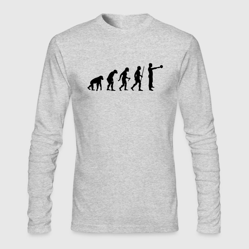 Evolution - Kettlebell Swing - Men's Long Sleeve T-Shirt by Next Level