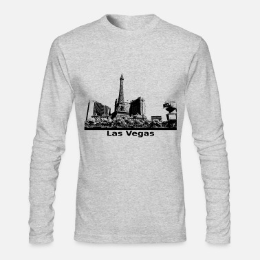 Las Vegas Las Vegas panoramic view in black - Men's Longsleeve Shirt
