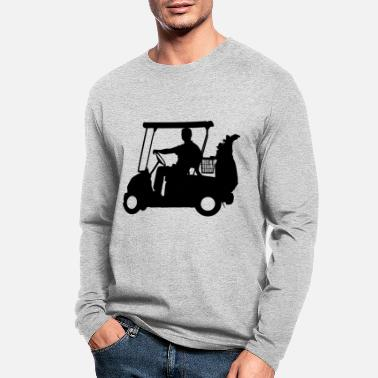 Strike Golfer Golf Silhouette - Men's Longsleeve Shirt