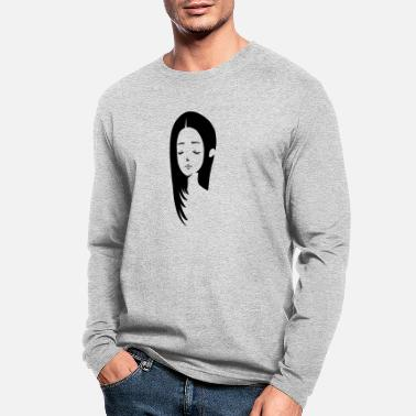 Girl with long hair - Men's Longsleeve Shirt