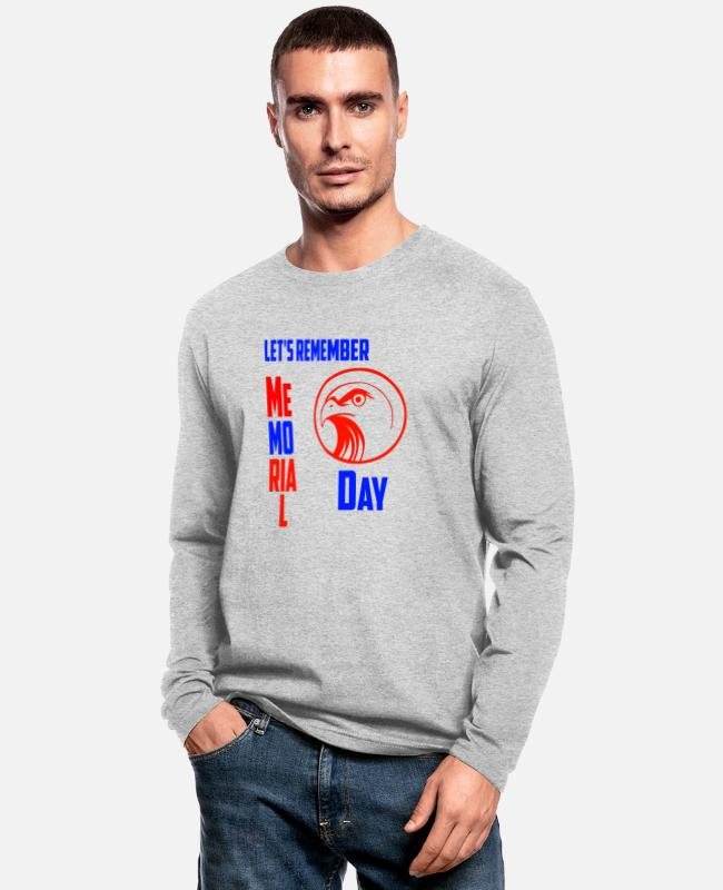 Happy Long-Sleeved Shirts - MEMORIAL DAY - Men's Longsleeve Shirt heather gray