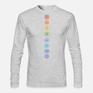 7 chakras - Men's Long Sleeve T-Shirt by Next Level