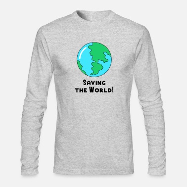 World Save the World no Plastic pollution ocean recycle - Men's Longsleeve Shirt
